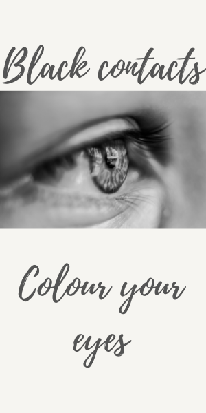 Black contacts in colour your eyes